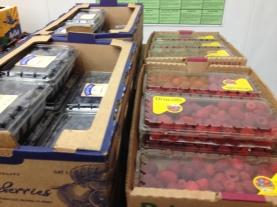 blueberries 18 oz $8~raspberries 12 oz $6.49