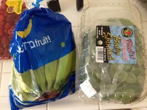 bananas $1.39 3lbsorganic baby spinach $3.49 1 lb