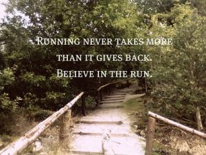 runningnevertakesmorethanitgivesback