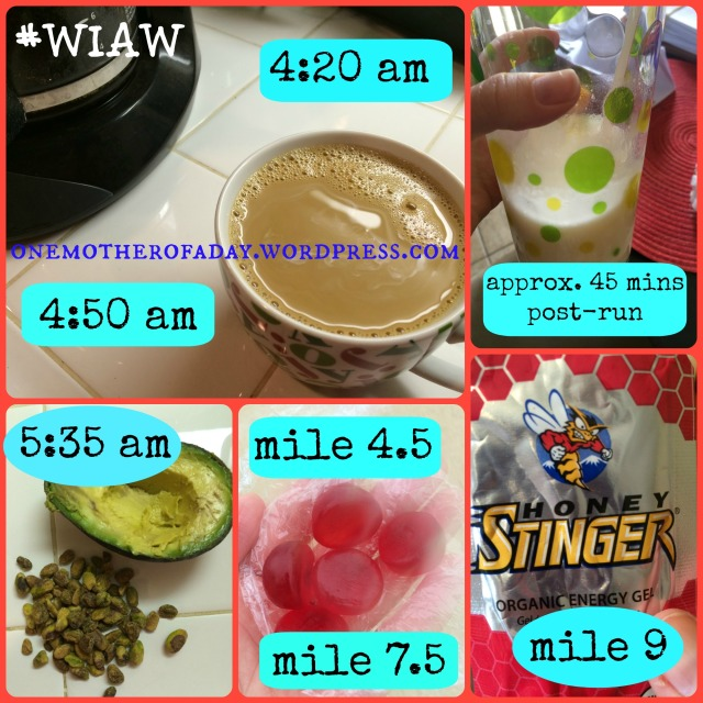 WIAW#14: What I ate before, during and after a 12 mile run