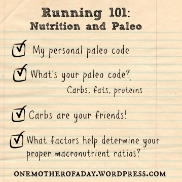 running 101 nutrition and paleo