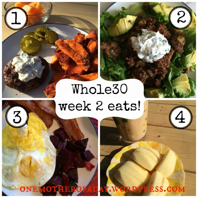 WIAW What I ate  week 2 whole30