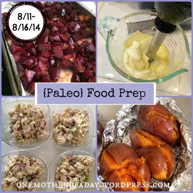 {Paleo} Food prep and meal planning: week of 8/11-8/16/14