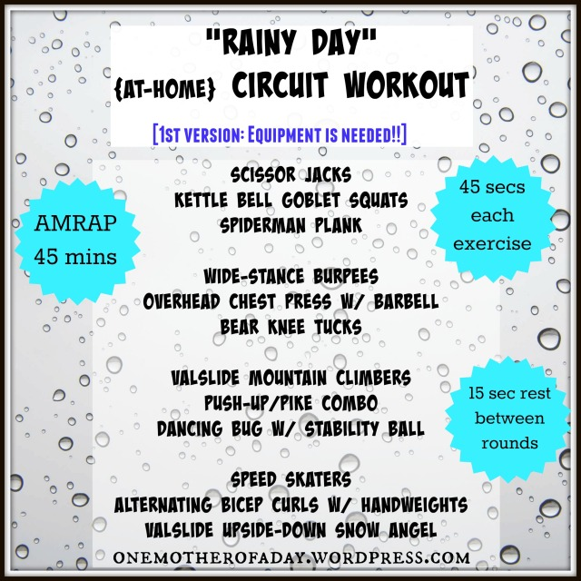 """Rainy day"" at-home circuit workout"