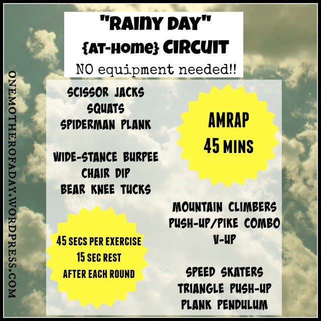 """Rainy Day"" at-home circuit no equipment needed!"